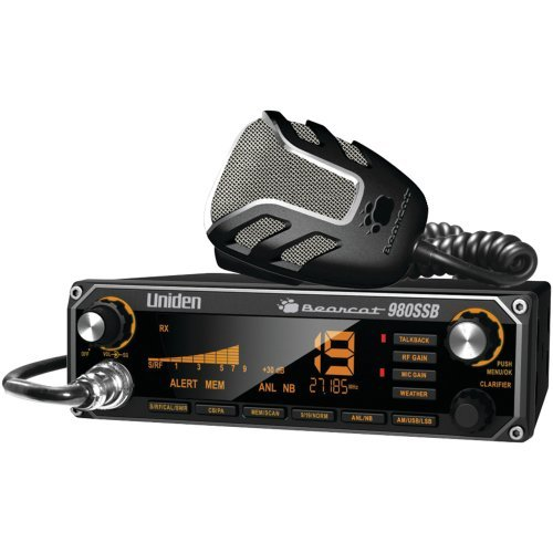 1 - CB Radio with SSB, 7-color backlighting, Noise-canceling microphone, BEARCAT 980SSB by Uniden