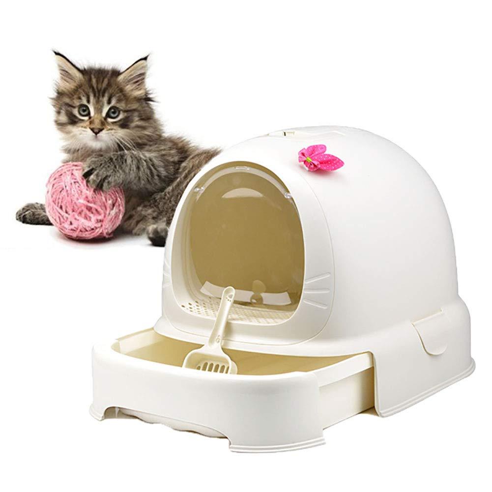 DJLOOKK Caja de Arena para Gatos autolimpiante, Bandeja de ...