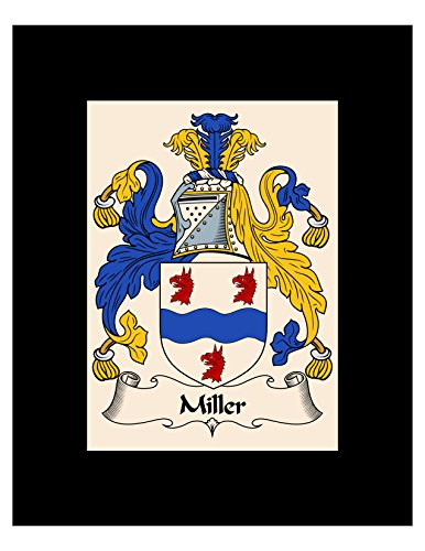 Carpe Diem Designs Miller Coat of Arms/Miller Family Crest 8X10 Photo Plaque, Personalized Gift, Wedding Gift (Arms Coat Irish Family)