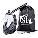 Full Face Anti-Fog Snorkel Mask - Sporty Breathe Easy Panoramic 180° Full View Snorkeling Head Masks for Adults & Kids