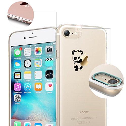Finoo Iphone 7 Funda Teléfono Móvil Silicona - Hada besos Manzana, Iphone 7 Plus Garabato Henna