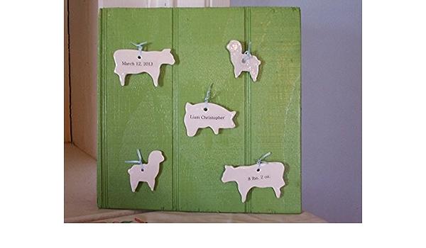 Hand Made Green Baby Wall Hanging
