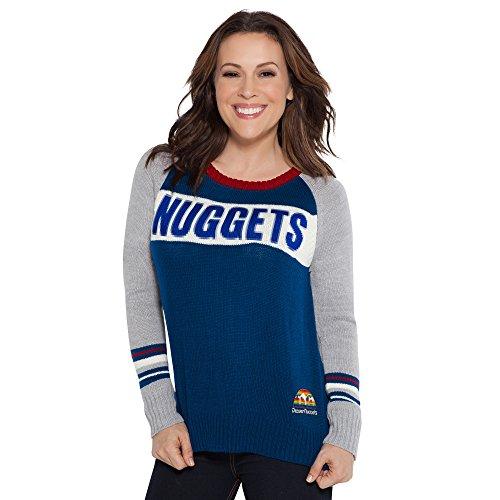 Nwt Adidas Nba Denver Nuggets Vintage Retro Jacket Coat: Denver Nuggets Sweatshirt, Nuggets Sweatshirt, Denver