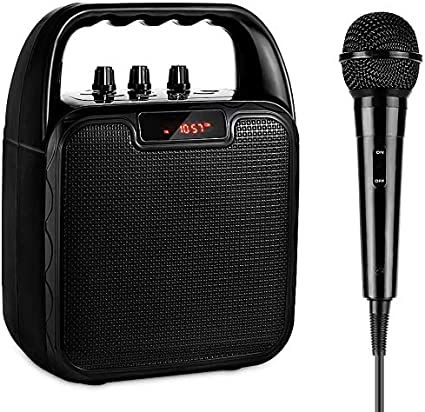 ARCHEER Portable Speaker System, Karaoke Machine bluetooth Speaker with  Microphone, Voice Amplifier Handheld Mic Perfect for Kids & Adults Party,