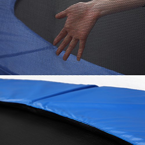 SONGMICS Outdoor Trampoline 12-Feet for Kids with Enclosure Net Jumping Mat and Spring Cover Padding TÜV Rheinland Certificated According to ASTM and GS Standard Blue USTR12FT by SONGMICS (Image #7)