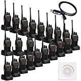 Retevis H-777 2 Way Radios UHF Two Way Radios 400-470MHz 16CH Walkie Talkies with Belt Clip (20 Pack) and USB Programming Cable
