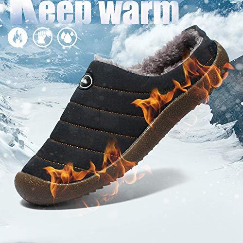 Warm Miss Snow Sintetica Slip Donna Invernali In Cotone Traspirante Scarpe Indoor Li Pantofole Boots Outdoor on Pelliccia Uomo Antiscivolo Top Low Blue qAgXw