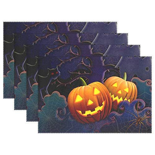 imobaby Halloween Spooks Washable Placemats Table Mats, Woven