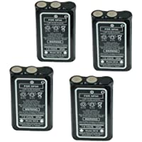 Hitech - 4 Pack of HNN9018 Replacement Batteries for Motorola Radius HT10, P10, P50, P60, CP10, CP50, SP50, and SP50+ 2-Way Radio Batteries (NiCd 7.5v1200mAh)