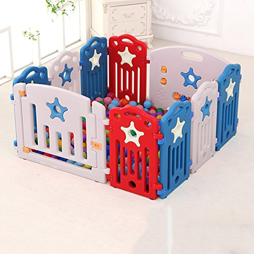 Baby Play Pen Outdoor Indoor Home Toddlers Kids Versatile Play Fence Multi Color Activity Area 10-panel