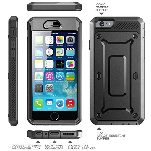 iPhone 7 Case,iPhone 8 Case[Screen Protector][Full Body][Heavy Duty Protection ][Locking Belt Swivel Clip] Shock Reduction/Bumper Case for 4.7 inch iPhone 7 /iPhone 8 (Black) by GGTT-YP (Image #2)