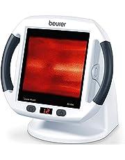 Beurer IL 50 Infrarot-Wärmestrahler, Medizinprodukt zur Behandlung von Erkältungen und Muskelverspannungen, Infrarotlampe mit 300 Watt Leistung 100% UV-Blocker und stufenlos verstellbarem Schirm