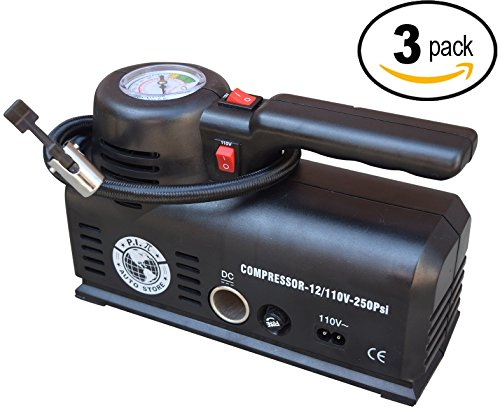 Price comparison product image P.I. Auto Store - Tire Inflator - Dual Electric Power 110V AC OR 12V DC - X3 Multipack