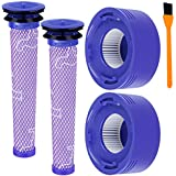 Hongfa Replacement for Dyson V8 and V7 Cordless Filter Bundle, Pre-Filter and Post Filter for Dyson V7 V8 Animal Absolute Vacuum Cleaner, Compare to Part#96566101 and 96747801