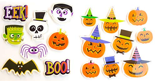 Happy Halloween Gel Window Decoration Clings Decor Cute Pumpkin Ghosts and Boo