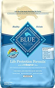 Blue Buffalo Dry Food for Puppies, Chicken and Rice Recipe, 6-Pound Bag