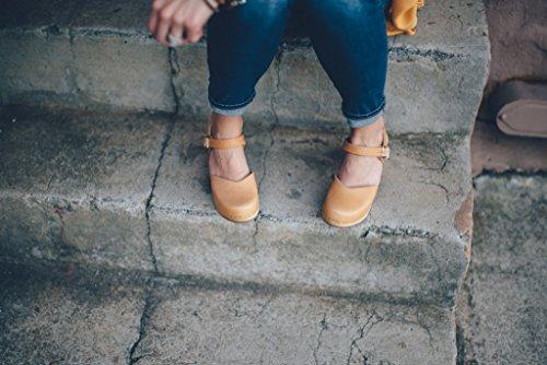 Pictures of Sandgrens Swedish Wooden High Heel Clog Sandals 4