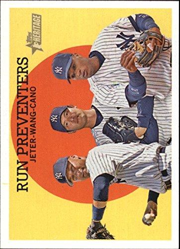 2008 Topps Heritage Baseball - 2008 Topps Heritage Baseball #237 Derek Jeter/Chien-Ming Wang/Robinson Cano NY Yankees