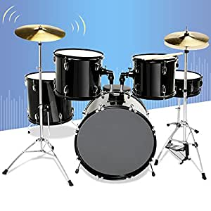 gracelove 5 piece complete adult drum set cymbals full size kit with stool sticks. Black Bedroom Furniture Sets. Home Design Ideas