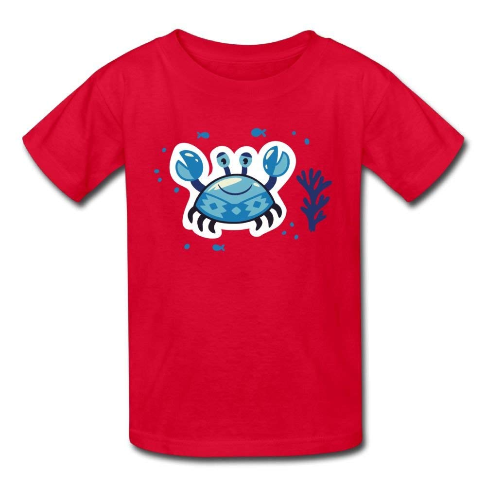 Moniery Cute Short-Sleeves Tshirt Happy Blue Crab Birthday Day Baby Girl Kids