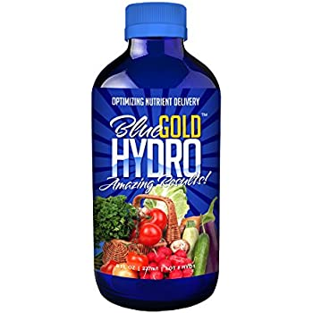 Blue Gold Hydro Organic Herb & Mineral Wetting Agent Plant Food, Concentrate 8 fl. oz. Bottle