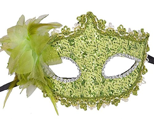 [HOVEOX Lace Mask Women's Flower Party Masquerade Eyemask Green] (Party City Costume Fashion Masks Masquerade)