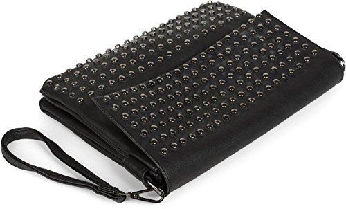 studs straps shoulder bag with bag shoulder Black styleBREAKER evening 02012227 handle clutch Black ladies Color qEZnY