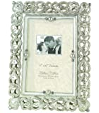 Lillian Rose Regal Elegance Jeweled Picture Frame, 4-Inch by 6-Inch