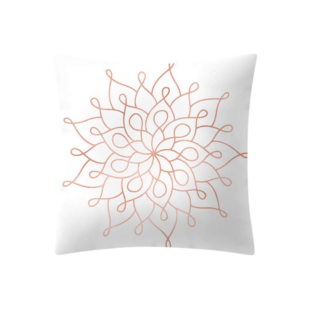 99native Taie d'oreiller couleur unie vintage,Coton Doux en Lin Couvre-Lit Taie d'oreiller Canap¨¦ Voiture Housse de Coussin Home Decor Lit 45 cm x 45 cm (F, 45 * 45CM)