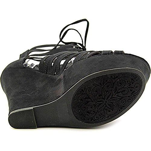 Beroemde Naam Merk Spelen Vrouwen Ons 6 Zwart Platform Sandaal