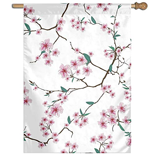 Garden Flag Chinese Sakura Pattern Lawn Banner Outdoor Yard Home Flag Wall Decoration Flag 27