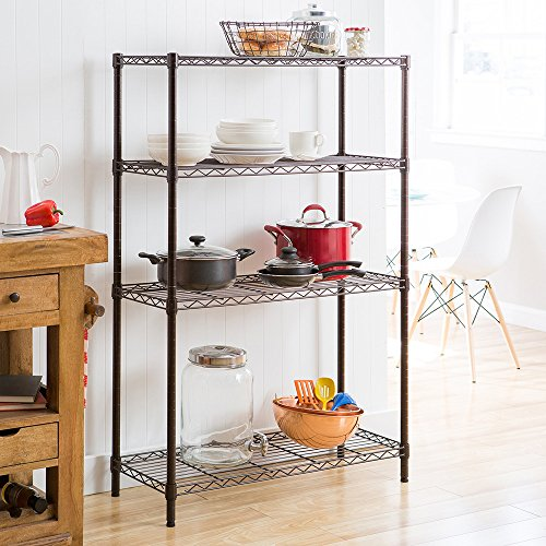 Review TRINITY 4-Tier NSF Wire Shelving Rack, 36 by 14 by By Trinity by Trinity