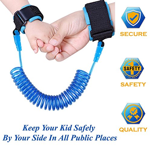 Child, Baby & Kid Anti Lost Wrist Link Leash, Strap Safety Harness Toddler for walking , airplane traveling (Blue)