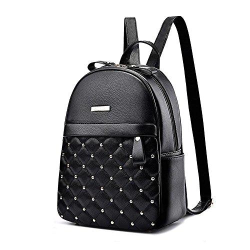 Aoligei Double sac à bandoulière PU étudiant sac style européen voyage sac à dos A