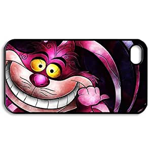 CTSLR Alice in Wonderland Hard Case Cover Skin for Apple iPhone 4/4s- 1 Pack - Black/White - 4- Perfect Gift for Christmas