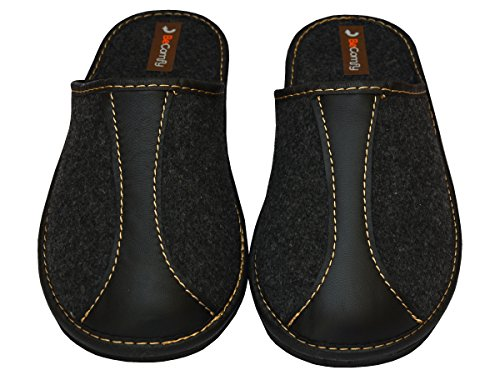 Nera In Fm51 Con Grigie Pantofole In Suola Scarpe Gomma Becomfy Feltro Modello w10q6TxX