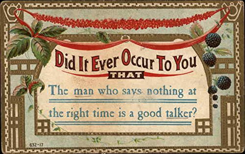 did it ever occur phrases sayings original vintage postcard at