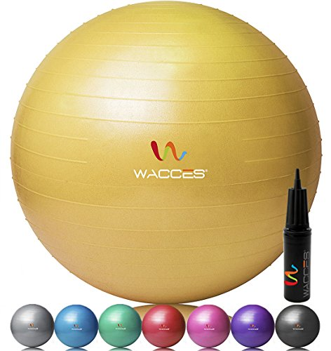 Wacces® Fitness Exercise and Stability Ball (Yellow, 55 cm)