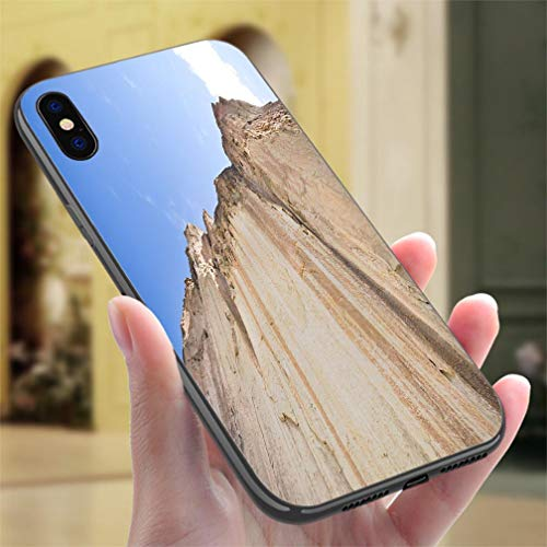 Creative iPhone Case for iPhone 7/8P Tuff Ash Cliff Valles Caldera Bandelier National Monument New Mexico Resistance to Falling, Non-Slip,Soft,Convenient Protective Case ()
