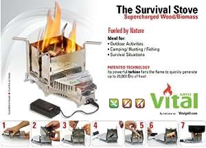 Vital Grill Survival - Hornillo portátil para acampada, color plateado, talla única