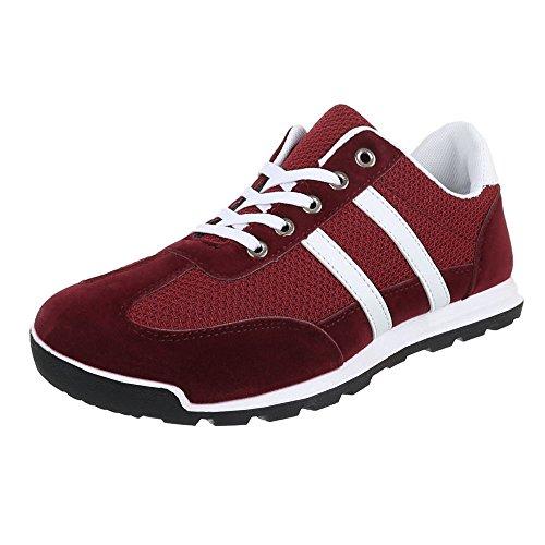 Ital-Design - Zapatillas Hombre Rojo - borgoña