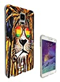 Cannibas Best Deals - 716 - Rasta Lion Weed Cannibas Hair Jamaican Design Samsung Galaxy Note 5 Fashion Trend CASE Gel Rubber Silicone All Edges Protection Case Cover