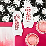 """Haute Soiree - Women's Novelty Socks - """"If You"""