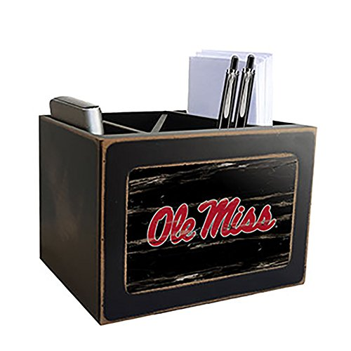 NCAA Ole Miss Rebels Distressed Team Logo Desktop Organizer (Ole Miss Rebels Wood)