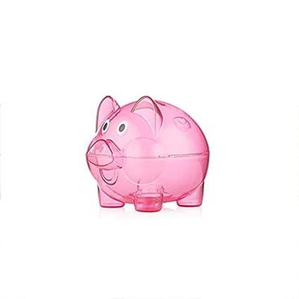 Providethebest Transparentes Monedas Caja plástica de la Caja de Ahorro de Dinero Hucha en Forma de