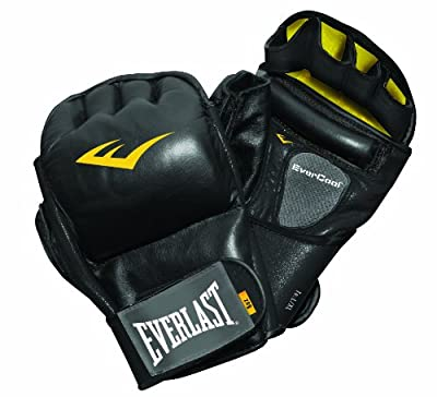 Everlast Train Elite Leather Wristwrap Heavy Bag Gloves