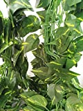 ShinyBeauty 12pcs (84 Feet) Artificial Ivy outdoor Fake Ivy with Flowers for DIY Kitchen Party Wall Outdoor Wedding Decor