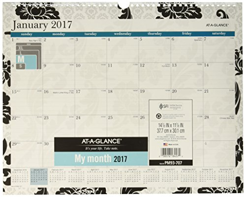 AT-A-GLANCE Wall Calendar 2017, Monthly, Madrid, 14-7/8 x 11