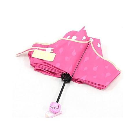 Fashion Paraguas cambia de color agua activado paraguas plegable ...
