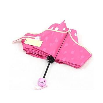 Fashion Paraguas cambia de color agua activado paraguas plegable, diseño de princesa, color rojo